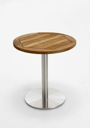 Café Tisch, Tischplatte Teak geölt, 70 / 77cm