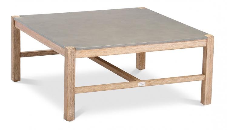 Madagaskar Lounge Tisch 80x80cm Grandis/betongrau