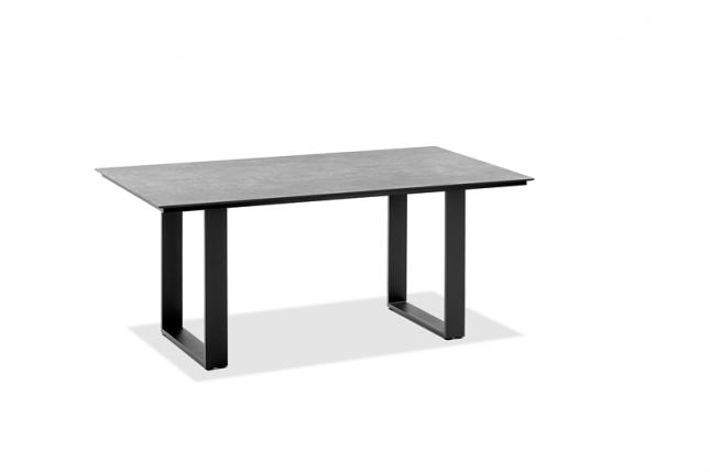 Tisch Saint Tropez Tischplatte HPL Zement, Gestell Profilkufe Aluminium pulverbeschichtet, Farbton a