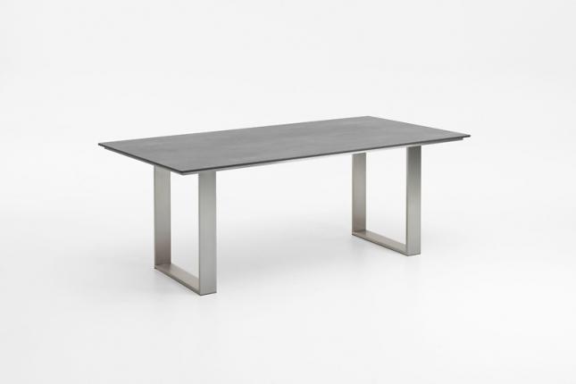 Saint Tropez Dining Lounge Tisch, Platte HPL Beton