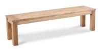 Moretti Teak-Bank 150x42cm grey-wash