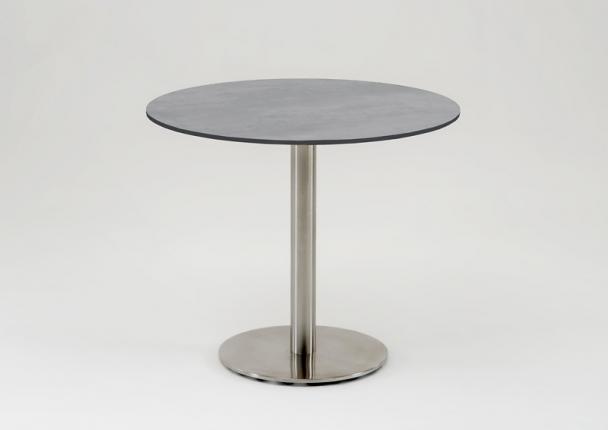 Café Tisch, Tischplatte HPL Beton, 95 / 74,5cm