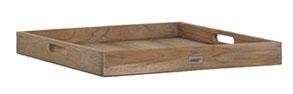 Moretti Teak-Serviertablett 60x60cm grey-wash