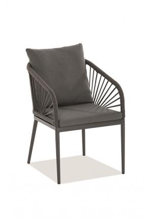 Pino Designstühle inkl. Sitz- und Rückenkissen dunkelgrau