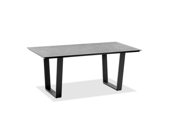 Saint Tropez Tisch, Platte HPL Zement