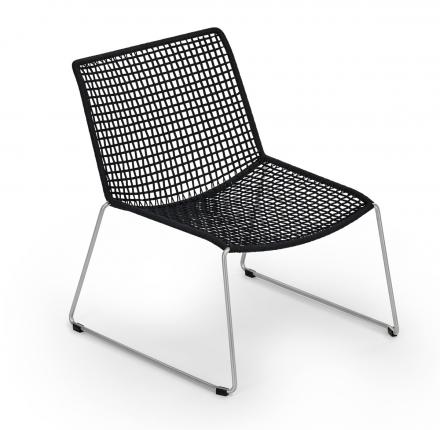 Slope Lounge Sessel V2A Kordelgeflecht
