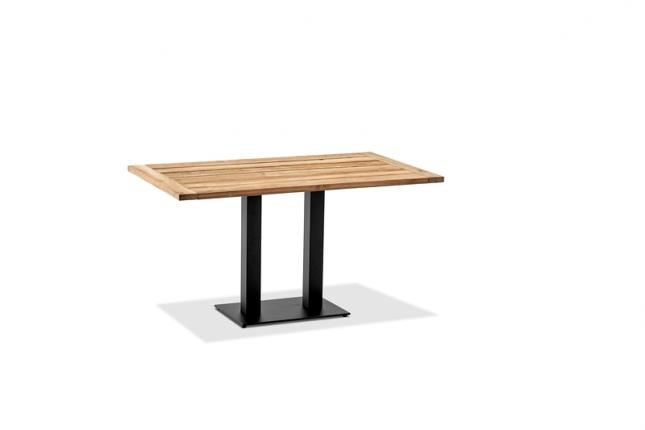 Café Tisch, Tischplatte Teak geölt, 120x81 / 77cm