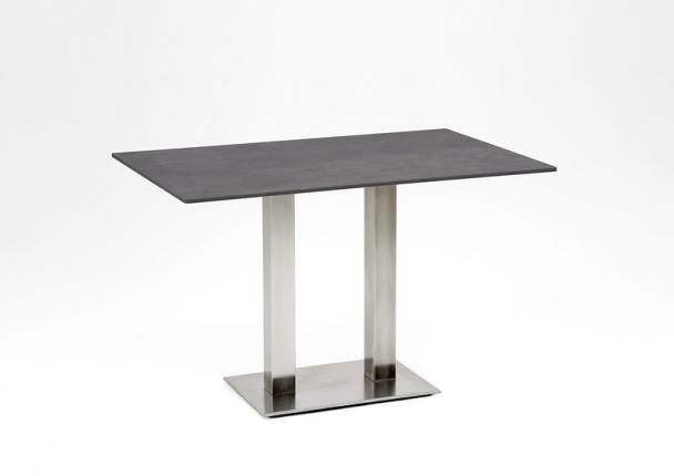 Café Tisch, Tischplatte HPL Beton, 140x95 / 74,5cm