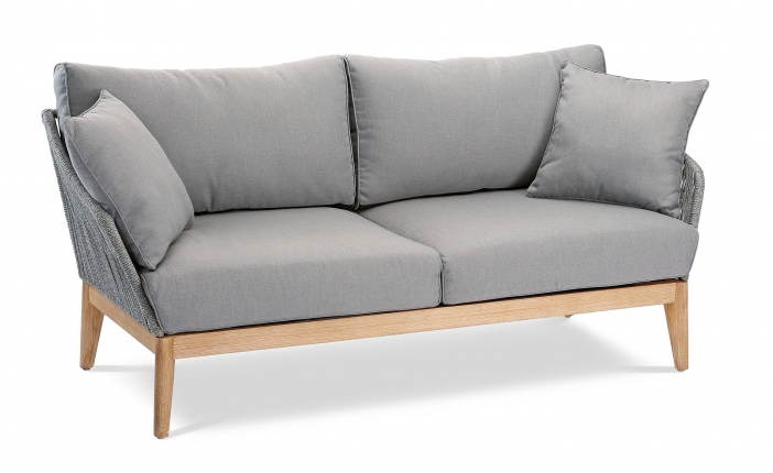 Samos Couch 2-Sitzer Grandis/grau