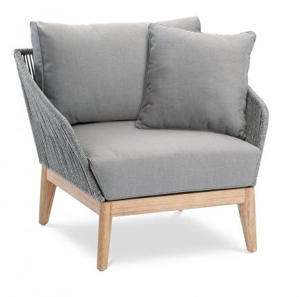 Samos Lounge Sessel Grandis/grau
