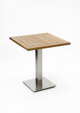 Café Tisch, Tischplatte Teak recycelt, 81x81 / 77cm