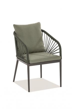 Pino Designstühle inkl. Sitz- und Rückenkissen grün