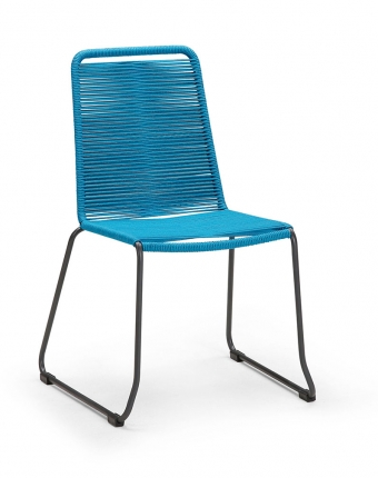 Symi Stapelsessel anthrazit/blau