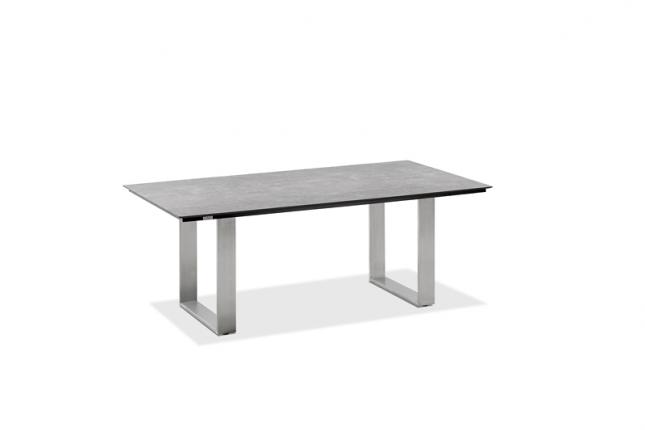 Noah Dining Lounge Tisch, Platte HPL Zement