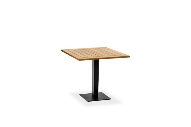 Café Tisch, Tischplatte Teak geölt, 81x81 / 77cm