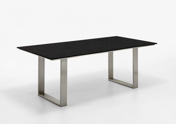 Saint Tropez Dining Lounge Tisch, Platte HPL Granit