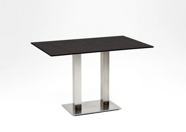 Café Tisch, Tischplatte HPL Granit, 140x95 / 74,5cm