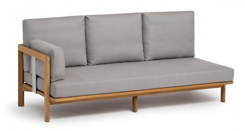New Hampton 3-Sitzer Anbauelement inkl. Sitzpolster, Armlehn- und 3 Rückenkissen