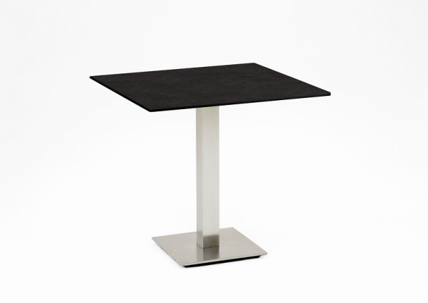 Café Tisch, Tischplatte HPL Granit, 68x68 / 74,5cm