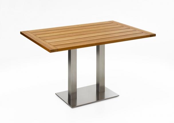 Café Tisch, Tischplatte Teak geölt, 140x95 / 77cm