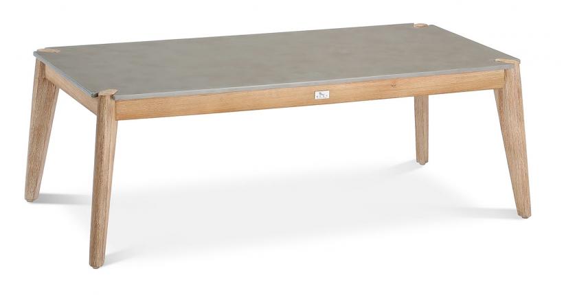 Samos Lounge Tisch 120x60cm Grandis/betongrau