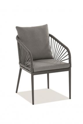 Pino Designstühle inkl. Sitz- und Rückenkissen anthrazit