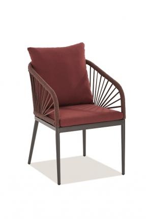 Pino Designstühle inkl. Sitz- und Rückenkissen rot