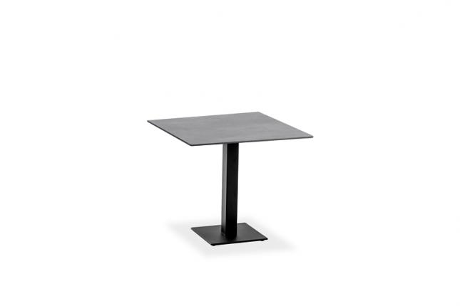 Café Tisch, Tischplatte HPL Beton, 68x68 / 74,5cm